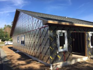 Halo® Exterra® used on building exterior at a job site