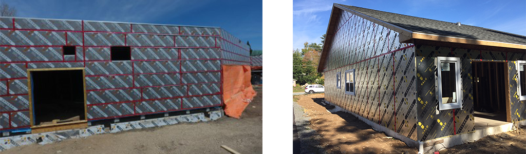 Halo® Exterra® installed on exterior of two buildings at a job site