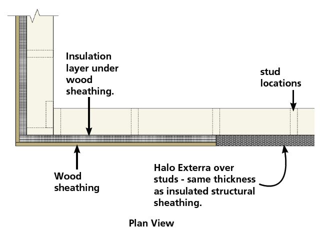 Plan View - Insulated wood structural panels with Halo