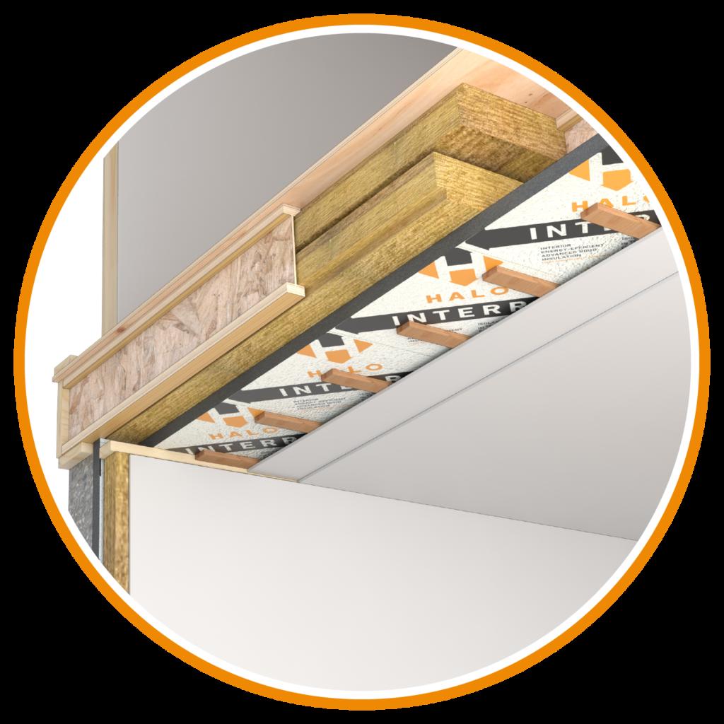 Halo Interra Basement Ceiling Application